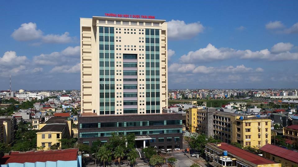 Khu nhà 15 tầng - Đại học Y Dược Thái Bình