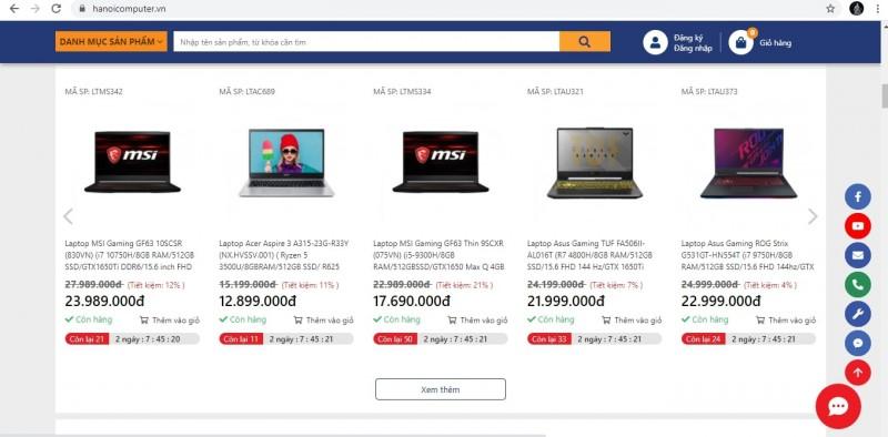 Website Hanoicomputer.vn